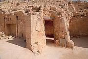 Israel, West Bank, Judaea, Herodion a castle fortress built by King Herod 20 B.C.E. Roman Bathhouse