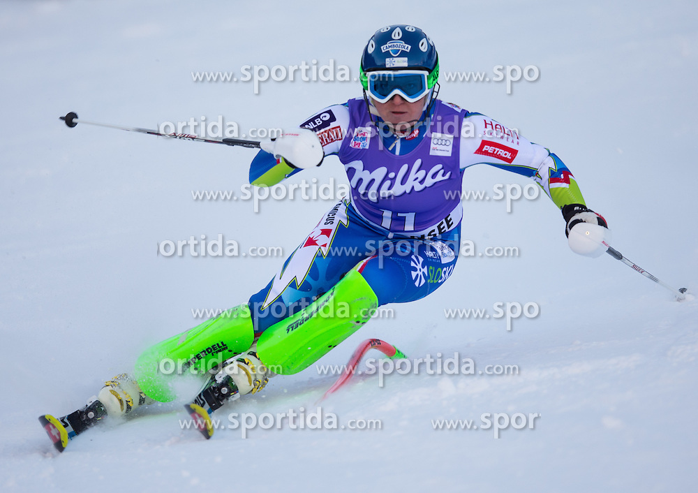 12.01.2014, Kalberloch, Zauchensee, AUT, FIS Ski Weltcup, Super Kombination, Damen, Slalom, im Bild Marusa Ferk (SLO) // Marusa Ferk of Slovenia in action during Slalom of the ladies Super Combined of the Altenmarkt Zauchnesee FIS Ski Alpine World Cup at the Kaelberloch course in Zauchensee, Austria on 2014/01/12. EXPA Pictures © 2014, PhotoCredit: EXPA/ Johann Groder