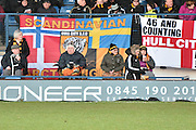 Hull city fans trip may be longer than others during the The FA Cup fourth round match between Bury and Hull City at Gigg Lane, Bury, England on 30 January 2016. Photo by Mark Pollitt.