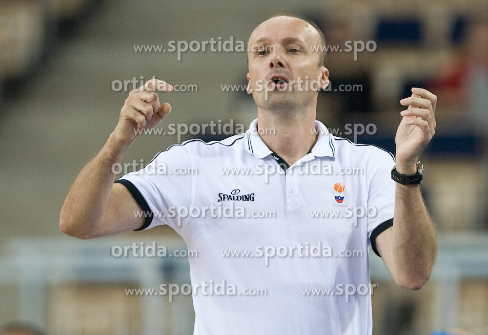 Head coach of Slovenia Jure Zdovc during the EuroBasket 2009 Group F match between Slovenia and Turkey, on September 16, 2009 in Arena Lodz, Hala Sportowa, Lodz, Poland.  (Photo by Vid Ponikvar / Sportida)