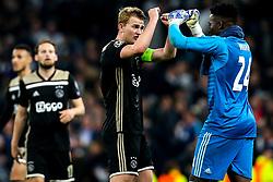 Matthijs de Ligt of Ajax celebrates with Andre Onana of Ajax after victory over Tottenham Hotspur - Mandatory by-line: Robbie Stephenson/JMP - 30/04/2019 - FOOTBALL - Tottenham Hotspur Stadium - London, England - Tottenham Hotspur v Ajax - UEFA Champions League Semi-Final 1st Leg