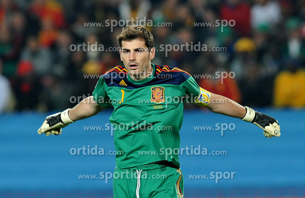 21.06.2010, Ellis Park Stadium, Johannesburg, RSA, FIFA WM 2010, Spain (ESP) vs Honduras (HND), im Bild Iker Casillas (Spagna) .. EXPA Pictures © 2010, PhotoCredit: EXPA/ InsideFoto/ Giorgio Perottino +++ for AUT and SLO only +++... / SPORTIDA PHOTO AGENCY