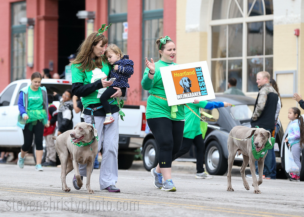 March 12, 2016: The O'City St. Patrick's Day parade takes place in downtown <br /> Bricktown area of Oklahoma City.