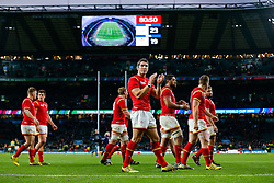 Wales replacement James Hook looks dejected after South Africa win the match 23-19 - Mandatory byline: Rogan Thomson/JMP - 07966 386802 - 17/10/2015 - RUGBY UNION - Twickenham Stadium - London, England - South Africa v Wales - Rugby World Cup 2015 Quarter Finals.