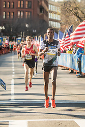 BAA 5K road race Gebremeskel Ethiopia adidas homestretch win over True USA Saucony