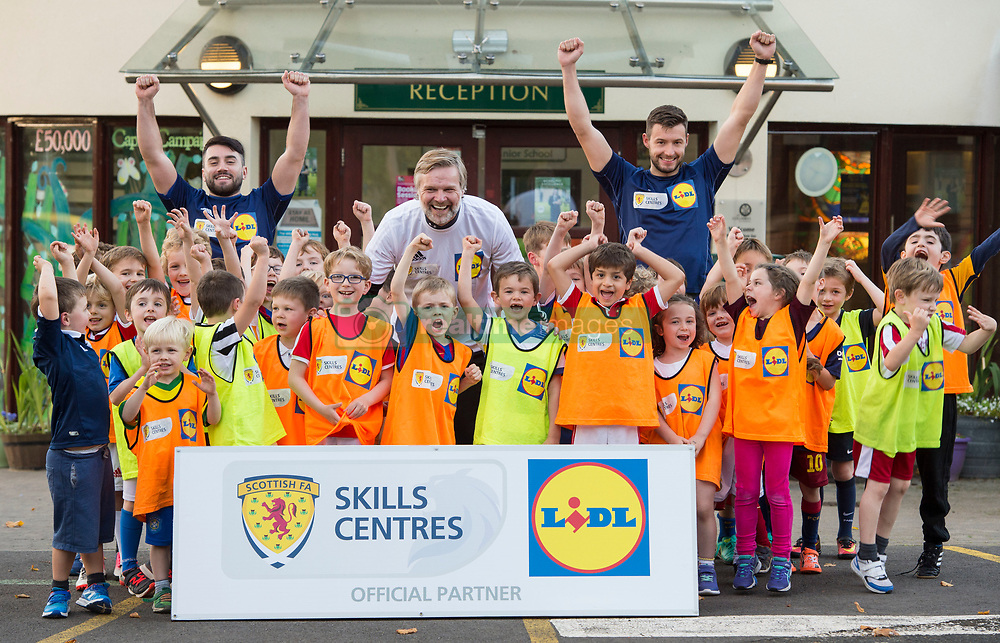 Steven Pressley during a surprise Lidl Skills Centre Visit to Inverclyde-St Columba's Junior School, Kilmacolm, Renfrewshire.