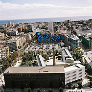 Barcelona, Spain. Part view of the @22 technological district built upon the remnants of the old district Poble Nou, also known as the Catalan Manchester.