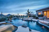Pinnacle Peak, Scottsdale, Arizona luxury twilight real estate photography