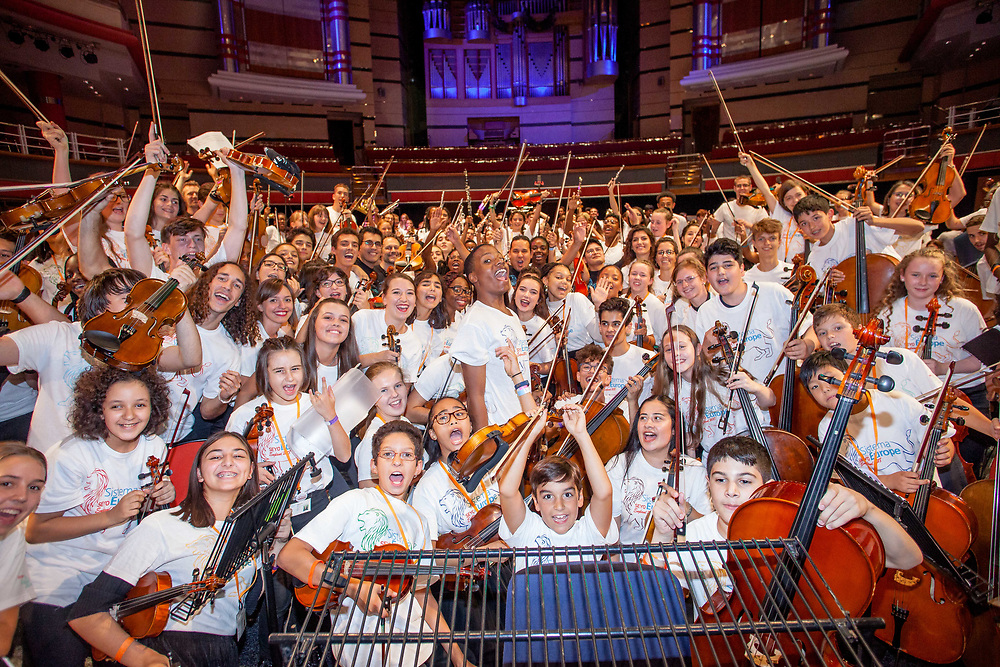 Uniting hundreds of talented young musicians and teachers from Sistema Europe's diverse network of programmes, SEYO is a European orchestra infused with the spirit of Venezuela's famed musical, social action initiative, El Sistema.<br /> <br /> The 5th SEYO Residency will be hosted by Sistema England from the 17th to 28th August 2018. And, this year, we're grateful to Julian Lloyd Webber and his team for working with us and allowing the residency to take place in the Birmingham Conservatoire. (Photos/Ivan Gonzalez)