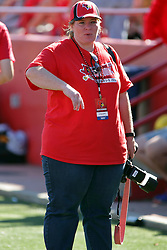 08 October 2016: Lydsie Schlink.  NCAA FCS Missouri Valley Football Conference Football game between Youngstown State Penguins and Illinois State Redbirds at Hancock Stadium in Normal IL (Photo by Alan Look)