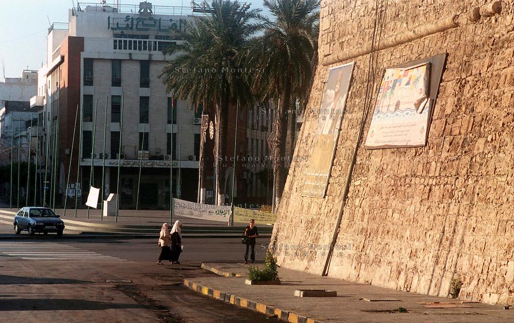 Libyan Arab Jamahiriya   .Tripoli       June 2002.Tripoli's green square.Libia Tripoli  Giugno 2002.La  Piazza Verde.