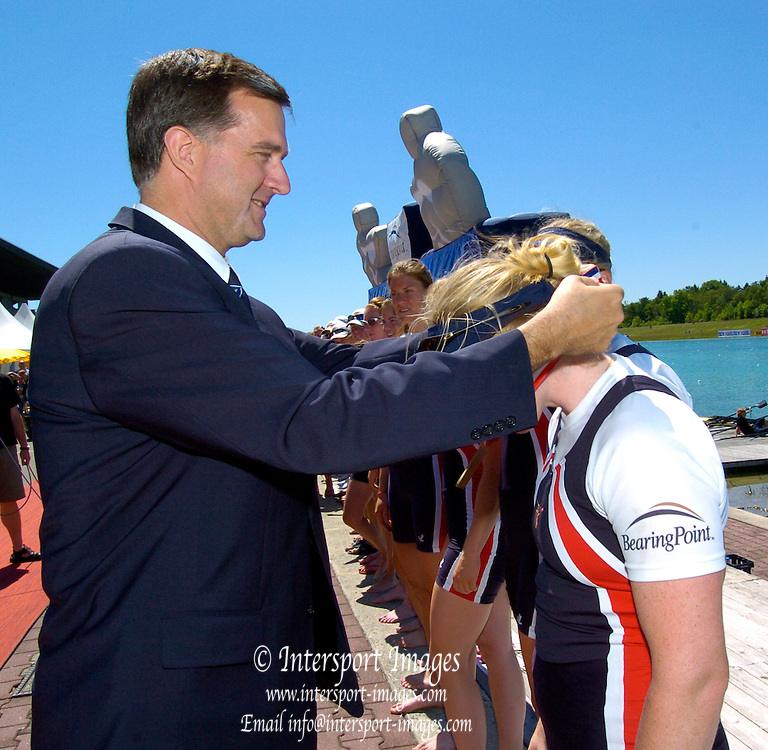 2005 FISA Rowing World Cup Munich,GERMANY. 19.06.2005; FISA CEO. Matt Smith..Photo  Peter Spurrier. .email images@intersport-images...[Mandatory Credit Peter Spurrier/ Intersport Images] Rowing Course, Olympic Regatta Rowing Course, Munich, GERMANY