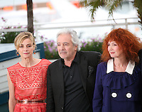 Anne Consigny, Pierre Arditi, Sabine Azema, at the Vous N'Avez Encore Rien Vu photocall at the 65th Cannes Film Festival France. Monday 21st May 2012 in Cannes Film Festival, France.