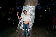 "ALICE DELLAL, Video artist Yi Zhou  first solo show ""I am your Simulacrum"".Exhibition opening at 20 Hoxton Square Projects. Hoxton Sq. London. 1 September 2010.  -DO NOT ARCHIVE-© Copyright Photograph by Dafydd Jones. 248 Clapham Rd. London SW9 0PZ. Tel 0207 820 0771. www.dafjones.com."