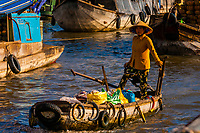 Cai Rang Wholesale Floating Market, near Can Tho, Mekong Delta, Vietnam.