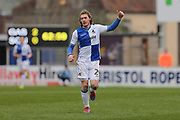 Bristol Rovers Luke James (29) thanks the crowd second half  during the EFL Sky Bet League 1 match between Bristol Rovers and Southend United at the Memorial Stadium, Bristol, England on 11 March 2017. Photo by Gary Learmonth.