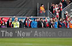 Bristol City fans look on - Photo mandatory by-line: Rogan Thomson/JMP - 07966 386802 - 25/01/2015 - SPORT - FOOTBALL - Bristol, England - Ashton Gate Stadium - Bristol City v West Ham United - FA Cup Fourth Round Proper.