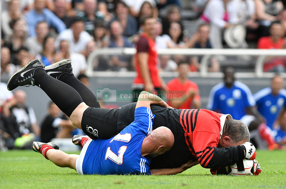 Fabien Barthez during the France 98 V Stade Toulousain match at the Ernest Wallon stadium in Toulouse, France, on July 10, 2017. Photo by Pascal Rondeau/ABACAPRESS.COM