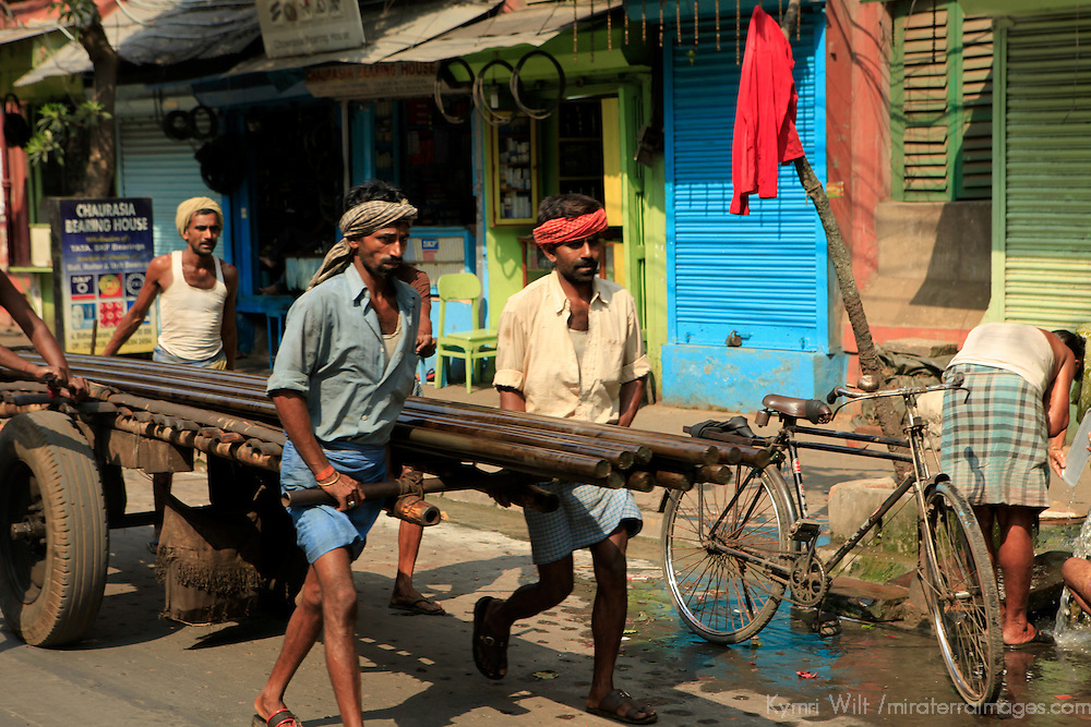 Asia, India, Calcutta. Street scene in Calcutta.