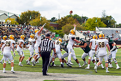 BLOOMINGTON, IL - September 28:   during a college football game between the IWU Titans and the Augustana Vikings on September 28 2019 at Wilder Field in Tucci Stadium in Bloomington, IL. (Photo by Alan Look)