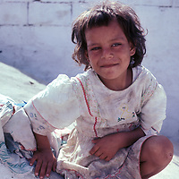 A young girl living in a Palestinian refugee camp in Lebanon in 1981.