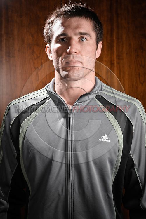 A portrait of mixed martial arts athlete Chael Sonnen