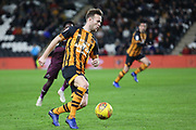 Hull City defender Todd Kane (17) on the attack during the EFL Sky Bet Championship match between Hull City and Swansea City at the KCOM Stadium, Kingston upon Hull, England on 22 December 2018.