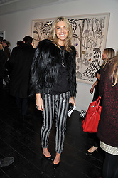 KIM HERSOV at a private view of art works by Annie Morris entitled 'There is A Land Called Loss' held at Pertwee Anderson & Gold Gallery, 15 Bateman Street, London W1 on 2nd February 2012.