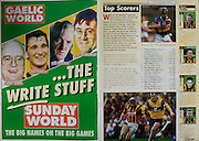 All Ireland Senior Hurling Championship - Final, .12.09.1999, 09.12.1999, 12th September 1999,.12091999AISHCF,.Senior Kilkenny v Cork,.Minor Galway v Tipperary, .Cork 0-13, Kilkenny 0-12,.Sunday World,
