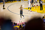 Golden State Warriors guard Stephen Curry (30) enters the game against the New Orleans Pelicans for the first time since his injury during regular season at Oracle Arena during Game 2 of the Western Semifinals in Oakland, California, on May 1, 2018. (Stan Olszewski/Special to S.F. Examiner)