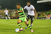 Forest Green Rovers Keanu Marsh-Brown (7) and Eastleigh's Réda Johnson(27) during the Vanarama National League match between Forest Green Rovers and Eastleigh at the New Lawn, Forest Green, United Kingdom on 13 September 2016. Photo by Shane Healey.