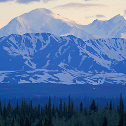 Mount McKinley as seen from the George Parks Highway near Denali State Park, Alaska.