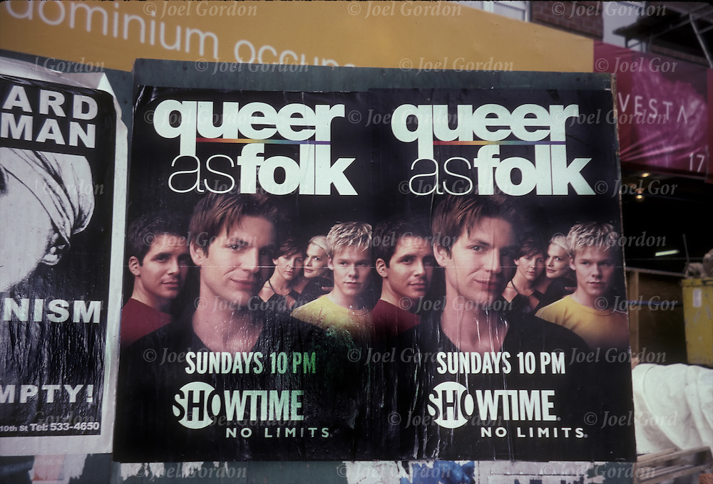 "Ad for HBO ""Queer as folk"" gay issues become more main stream"