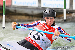 28.02.2013, Eiskanal, Augsburg, GER, ICF Kanuslalom Weltcup, 2. Rennen, im Bild Kimberley WOODS (GBR), C1, Canadier Einer, // during 2nd race of ICF Canoe Slalom World Cup at the ice track, Augsburg, Germany on 2013/06/28. EXPA Pictures © 2013, PhotoCredit: EXPA/ Eibner/ Klaus Rainer Krieger<br /> <br /> ***** ATTENTION - OUT OF GER *****