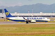 Ryanair Boeing 737-800 Next Gen, (EI-FRI ), ready for take off. at Milan, Italy