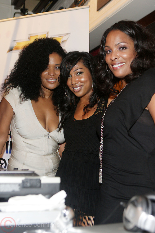 Washington, D.C- September 22:  l to r: DJ Beverly Bond, founder, Black Girls Rock!, Recording Artist Melanie Fiona, and DJ Spinderella at the Black Girls Rock & Soul Tour in Washington, D.C. featuring Avery Sunshine, Melanie Fiona and DJ Spinderella sponsored by Chevy held at the Hard Rock Cafe on September 22, 2011 in Washington, D.C. Photo Credit: Terrence Jennings