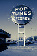 Pop Tunes Records sign in Memphis, Tennessee (1988)