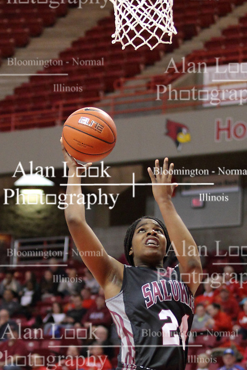 04 January 2015:  Kim Nebo during an NCAA MVC (Missouri Valley Conference) women's basketball game between the Southern Illinois Salukis and the Illinois Sate Redbirds at Redbird Arena in Normal IL