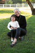 Kim DaRosa and family in Vallejo, California, Oct. 30, 2011. (Photo by Kevin Bartram)