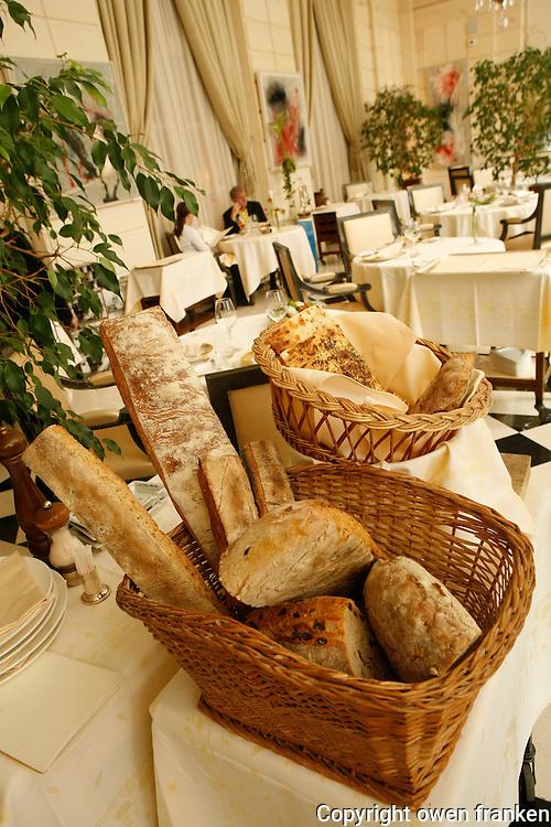 in the Restaurant Trois Marchés, Versailles...the Chef is Gerard Vié..Photograph by Owen Franken.