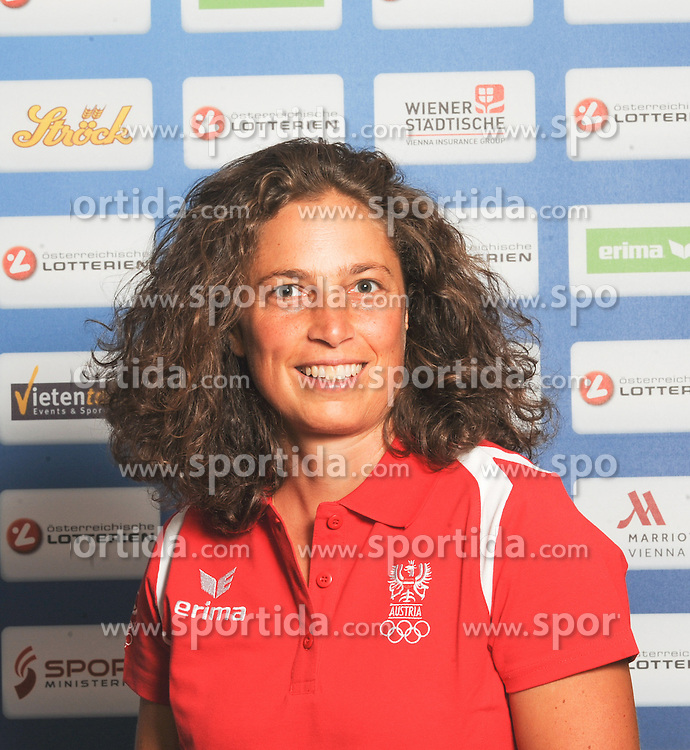 17.07.2016, Hotel Mariott, Wien, AUT, Olympia, Rio 2016, Einkleidung OeOC, im Bild Baldauff Laurence (Bogensport) // during the outfitting of the Austrian National Olympic Committee for Rio 2016 at the Hotel Mariott in Wien, Austria on 2016/07/17. EXPA Pictures © 2016, PhotoCredit: EXPA/ Erich Spiess