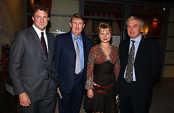 Left to right, NICK HOFFMAN chairman of the Gilbert Collection Trust PROF.BRIAN ALLEN Director of the Paul Mellon Centre for British Art, MADAME ELENA GAGARINA General Director of the Museums of the Moscow Kremlin and DR ALEXY LEVYKIN Director for Research at the Museums of the Moscow Kremlin at 'Britannia & Muscovy English Silver at The Court of The Tsars' exhibition opening at the Gilbert Collection, Somerset House, London on 20th October 2006<br /><br />NON EXCLUSIVE - WORLD RIGHTS