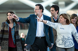 07.12.2011, Ciudad de las Artes y las Ciencias, Valencia, ESP, Spanische Parlamentswahlen, Präsentation Wahlprogramm der PP, im Bild (L-R) Andrea Levy, Prime ministre Mariano Rajoy and Isabel Bonig // during the PP electoral program presentation for the Spanish Generals elections. Ciudad de las Artes y las Ciencias in Valencia, Spain on 2011/12/07. EXPA Pictures © 2015, PhotoCredit: EXPA/ Alterphotos/ Javier Comos<br /> <br /> *****ATTENTION - OUT of ESP, SUI*****