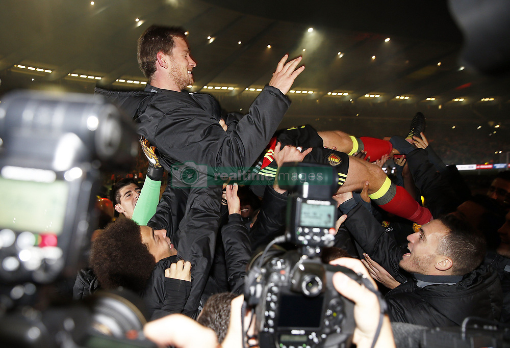 October 10, 2017 - Bruxelles, Belgique - Jan Vertonghen defender of Belgium celebrates (Credit Image: © Panoramic via ZUMA Press)