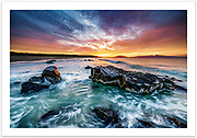 A stunning winter sunrise over Great Oyster Bay [Cressy Beach, Swansea, Tasmania]<br /><br />Image ID: 207478. Order by email to orders@girtbyseaphotography.com quoting the image ID, preferred print size & media. Current standard size prices are published on the Pricing page. Custom sizes also available.
