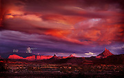 Lightning storm, Six Shooter Peaks, Squaw Flat, Needles District, Canyonlands