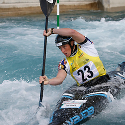Fiona PENNIE GBR who qualified 18th. 2014 ICF Canoe Slalom World Cup. Lee Valley White Water Centre, London. (c) Matt Bristow | SportPix.org.uk