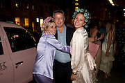 GRACE PILKINGTON; DAVID JENKINS; JANE LAMONTH, Tatler magazine's  pyjama party sponsored by Thomas Pink. Claridge's. London. 7 July 2011.<br /> <br />  , -DO NOT ARCHIVE-© Copyright Photograph by Dafydd Jones. 248 Clapham Rd. London SW9 0PZ. Tel 0207 820 0771. www.dafjones.com.
