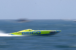 May 4, 2019 - Fort Lauderdale, Florida, United States Of America - FORT LAUDERDALE, FL - MAY 04: Geico Boat performs in the Fort Lauderdale Air Show on May 4, 2019 in Fort Lauderdale, Florida...People:  Geico Boat. (Credit Image: © SMG via ZUMA Wire)