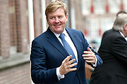 Koning Willem Alexander opent tentoonstelling Utrecht, Caravaggio en Europa in het Centraal Museum, Utrecht<br /> <br /> King Willem Alexander opens exhibition Utrecht, Caravaggio and Europe in the Centraal Museum, Utrecht<br /> <br /> Op de foto / On the photo:  aankomst / arrival